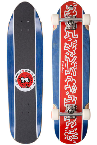 "Alien Workshop Haring Racer Boi 9"" x 34"" Cruiser (red blue)"