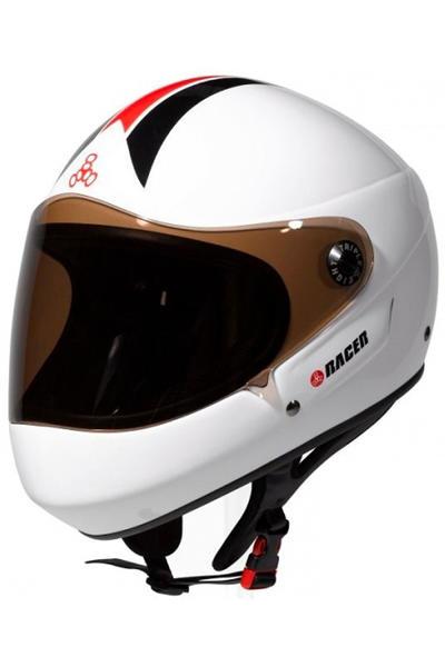 Triple Eight T8 Racer Downhill Helm (white)