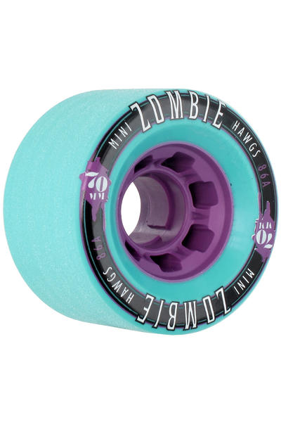 Hawgs Mini Zombies 70mm 86A Rollen (turquoise) 4er Pack
