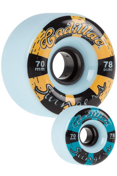 Cadillac Wheels Swingers 70mm 78A Roue (blue) 4 Pack