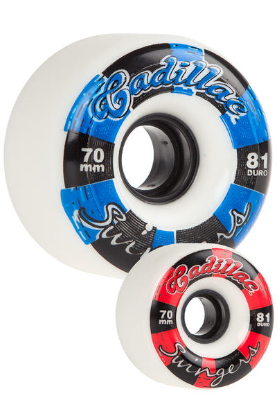 Cadillac Wheels Swingers 70mm 81A Rollen (white) 4er Pack