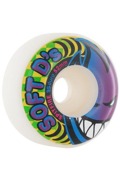 Spitfire Soft D's 52mm 95A Rueda (white) Pack de 4