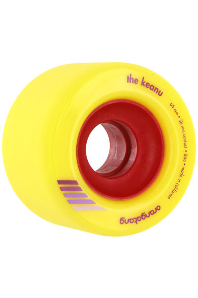Orangatang The Keanu 66mm 86A Rollen (yellow) 4er Pack