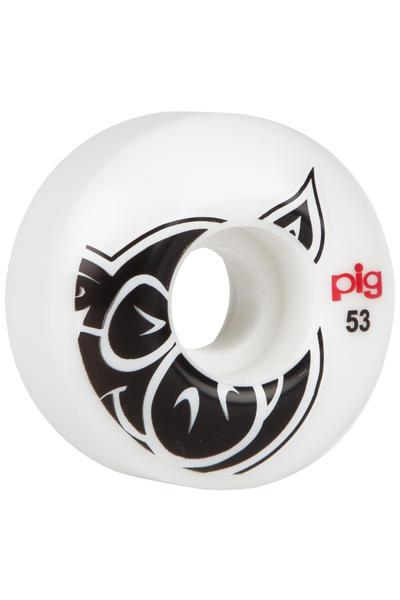 Pig Head 53mm Wheel (white) 4 Pack