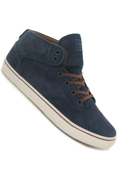Globe Motley Mid Suede Shoe (navy brown)