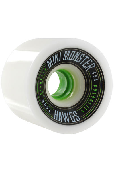 Hawgs Mini Monster 70mm 80A Roue 2014 (white) 4 Pack
