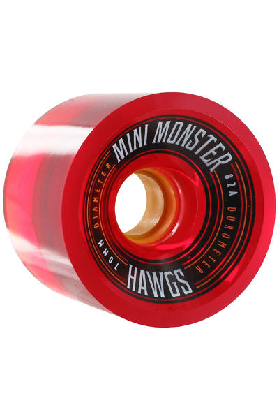 Hawgs Mini Monster 70mm 82A Roue (clear red) 4 Pack