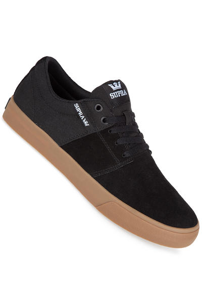 Supra Stacks Vulc II Suede Shoe (black gum)
