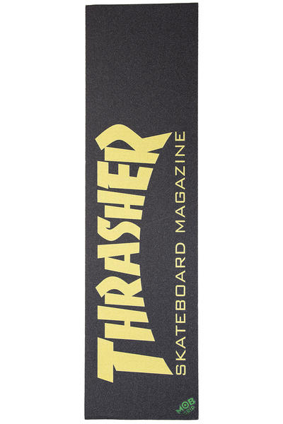 Thrasher x Mob Skate Mag Griptape (black yellow)