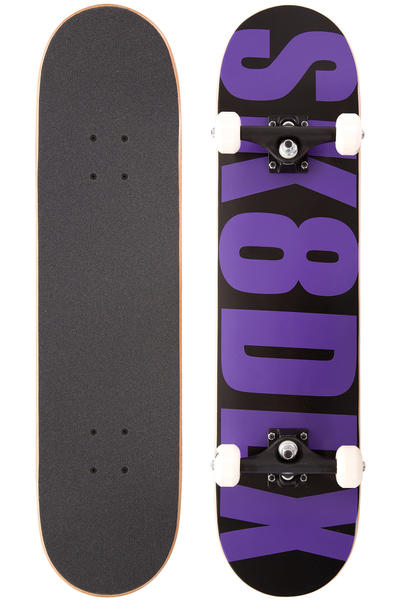"SK8DLX Letter 7.5"" Complete-Board (black purple)"