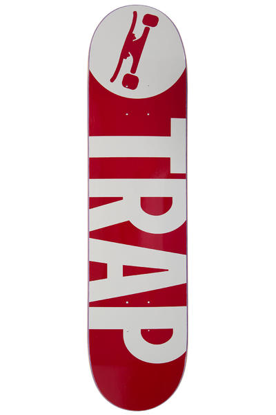 "Trap Skateboards Classic Big Logo 7.625"" Deck (red)"