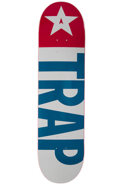 "Trap Skateboards Big Flag 8.125"" Deck (red blue)"