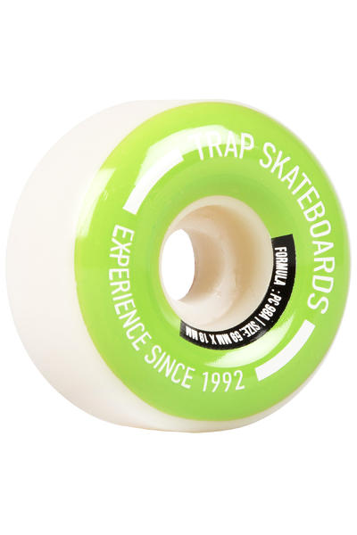 Trap Skateboards Pooldogs 59mm Rollen (white light green) 4er Pack