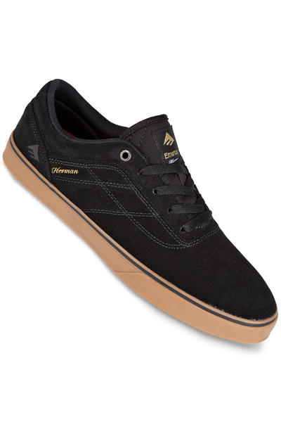 Emerica The Herman G6 Vulc Suede Shoe (black gum)
