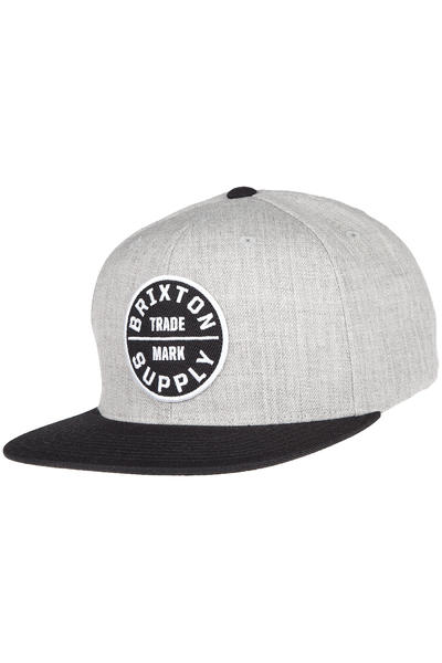 Brixton Oath III Snapback Cap (heather grey black)