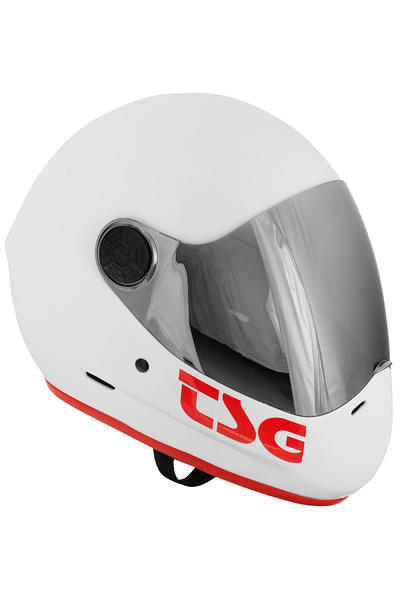 TSG Pass Solid Color Helmet (gloss white)