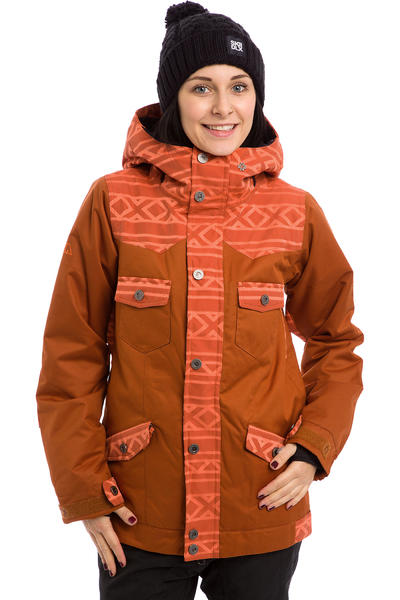 Nikita Mayon Snowboard Jacke women (gingerbread nasturtium jacquard)