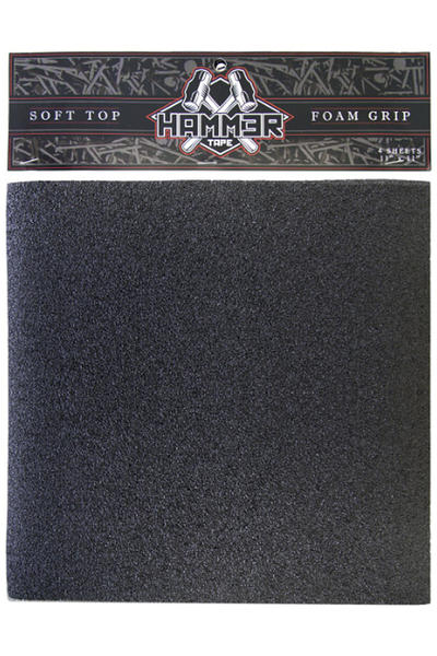 "Landyachtz Hammer 11"" x 11"" Soft Top Foam Griptape (black) 4 Pack"