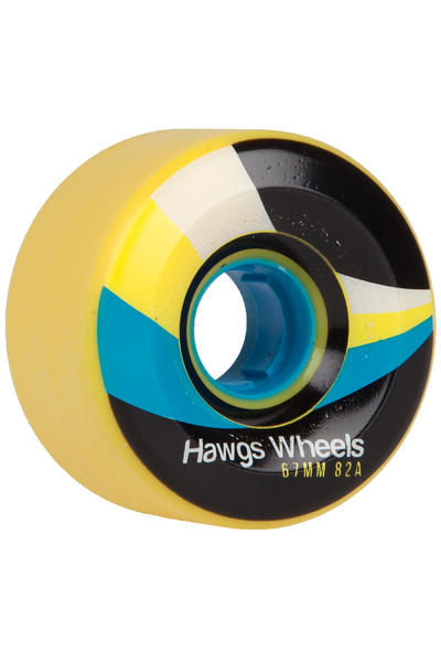 Hawgs Street 67mm 82A Rollen (yellow) 4er Pack