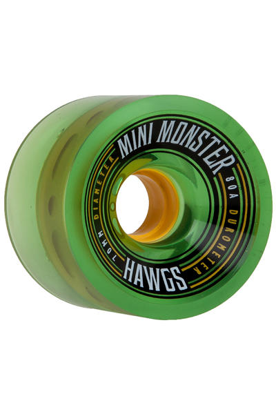 Hawgs Mini Monster 70mm 80A Roue (clear green) 4 Pack