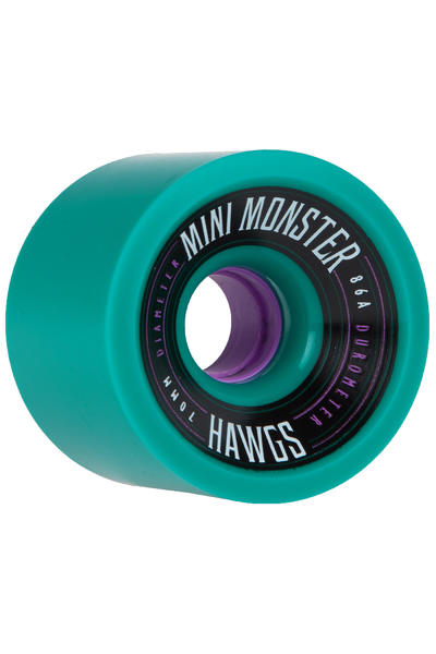 Hawgs Mini Monster 70mm 86A Rollen (teal) 4er Pack