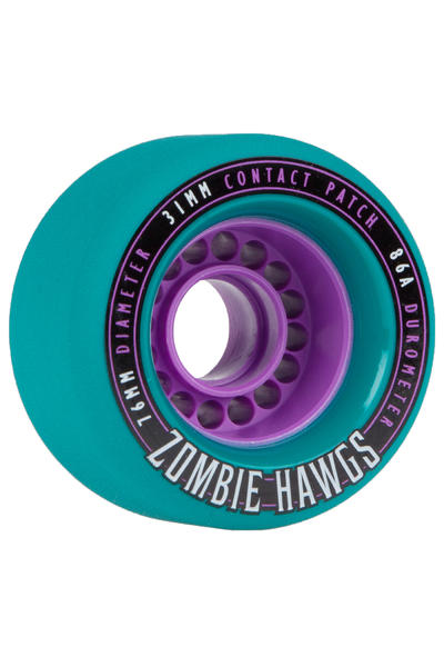 Hawgs Zombies 76mm 86A Rollen (teal) 4er Pack
