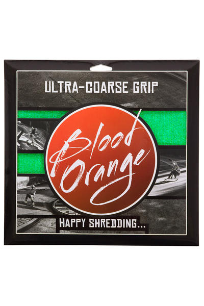 Blood Orange Heavy-Duty Ultra-Coarse Griptape (neon green) 4 Pack
