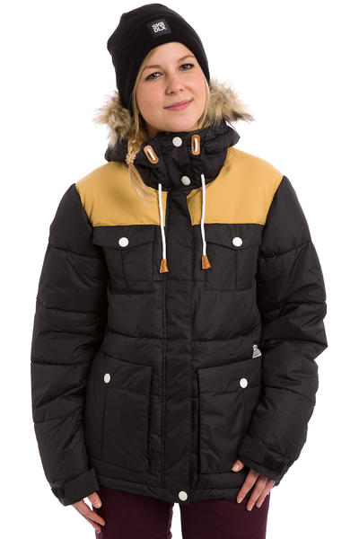 Colour Wear Tag Snowboard Jacket women (black)