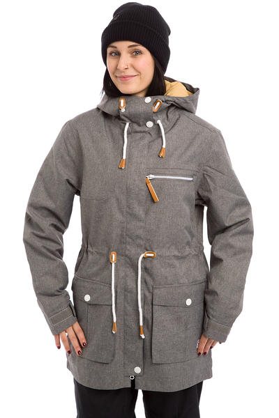Colour Wear Up Parka Snowboard Jacket women (grey melange)