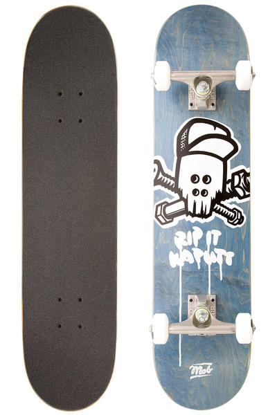 "MOB Skateboards Team Skull 7.625"" Complete-Board (blue)"