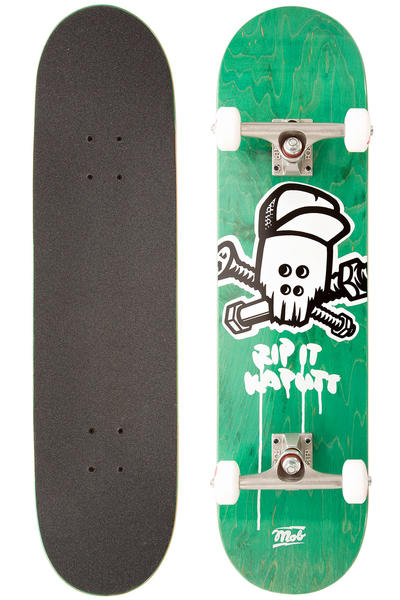 "MOB Skateboards Team Skull 8"" Complete-Board (green)"