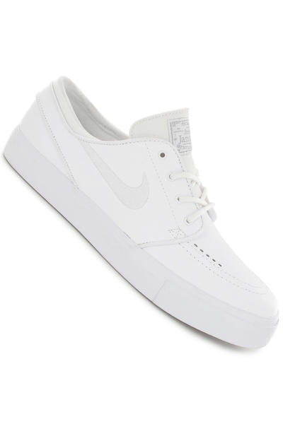 Nike SB Zoom Stefan Janoski Leather Shoe (white white wolf grey)