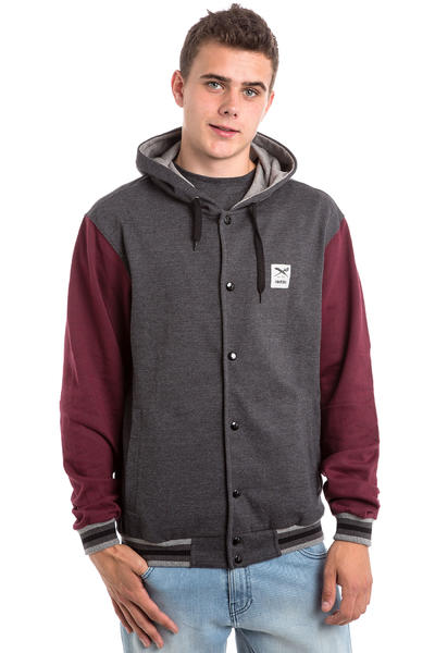 Iriedaily Daily College Jacket (anthracite red)