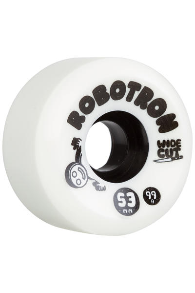 Robotron Wide Cut 53mm Rueda (white) Pack de 4