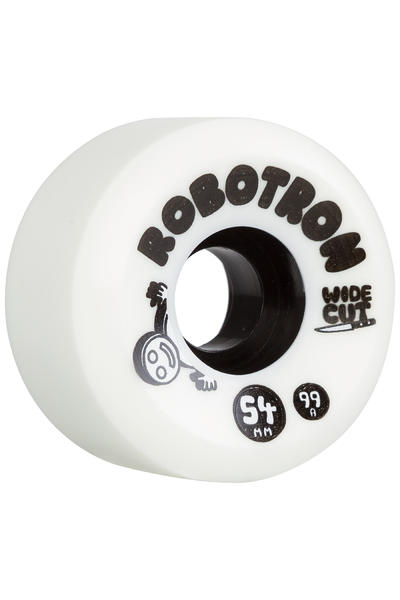 Robotron Wide Cut 54mm Rueda (white) Pack de 4