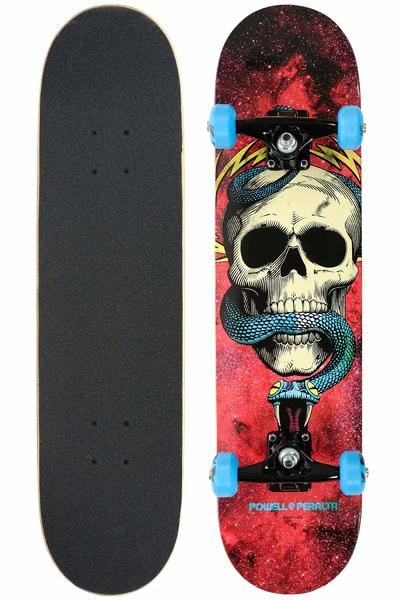 "Powell-Peralta Skull & Snake 7.625"" Complete-Board (cosmic red)"
