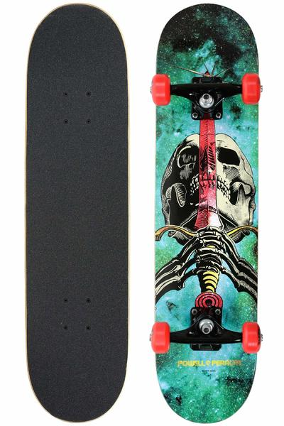"Powell-Peralta Skull & Sword 7.5"" Complete-Board (cosmic green)"