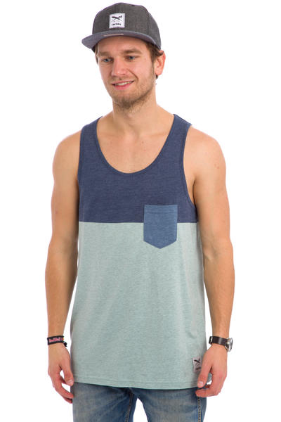 Iriedaily Block Pocket Tank-Top (mintgrey)