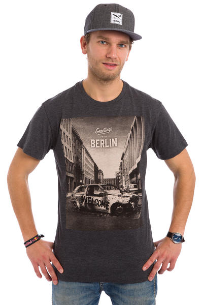 Iriedaily Greetings T-Shirt (anthracite melange)
