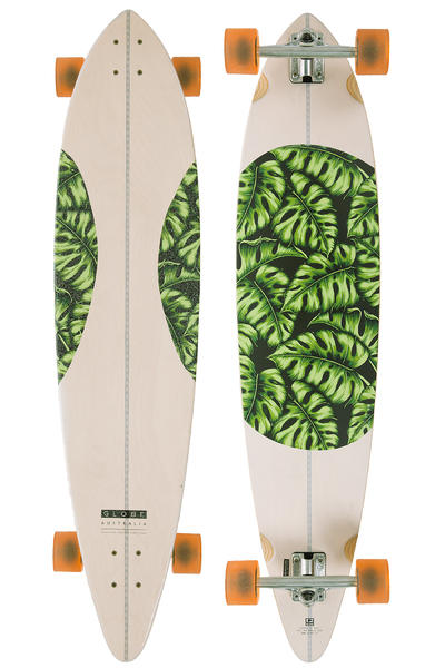 "Globe Monstera Pintail  44"" (111,5cm) Komplett-Longboard (natural monstera)"