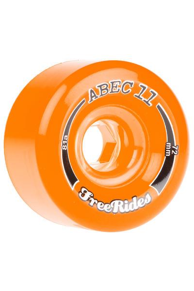 ABEC 11 Freeride LTD 72mm 81A Rollen (amber) 4er Pack