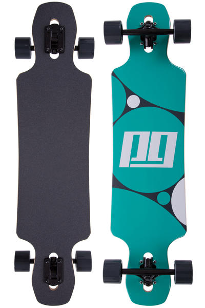"Peng Circles 38"" (96,5cm) Complete-Longboard (black turquoise)"