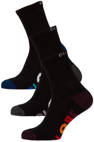Globe Multi Stripe Socks US 7-11 (black) 5 Pack
