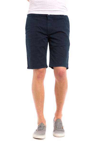 Cleptomanicx Port Slim Chino Shorts (dark navy)