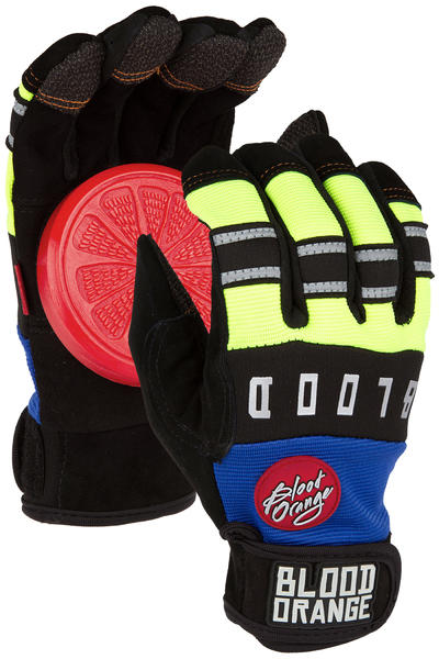 Blood Orange Knuckle Slide Gloves (blue neon)
