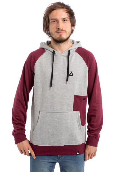 Anuell Connor Sudadera (heather grey burgundy)