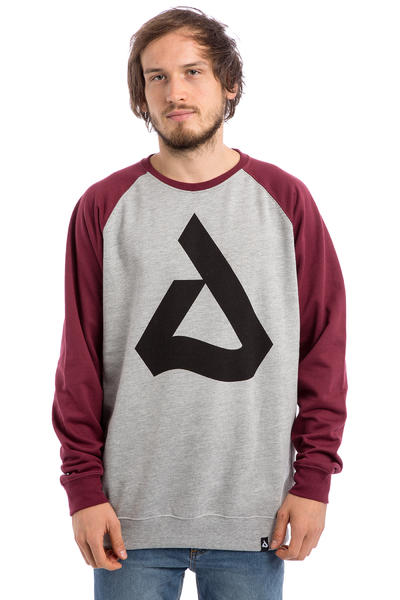 Anuell Blake Sweatshirt (heather grey burgundy)
