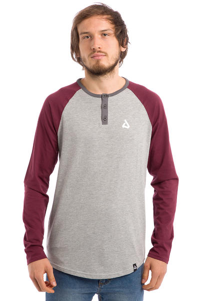 Anuell Stanley Camiseta de manga larga (heather grey burgundy)
