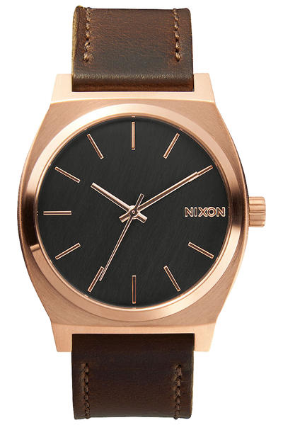 Nixon The Time Teller Watch (rose gold gunmetal brown)
