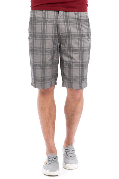 Volcom Frozen Plaid Reg Chino Shorts (gunmetal grey)